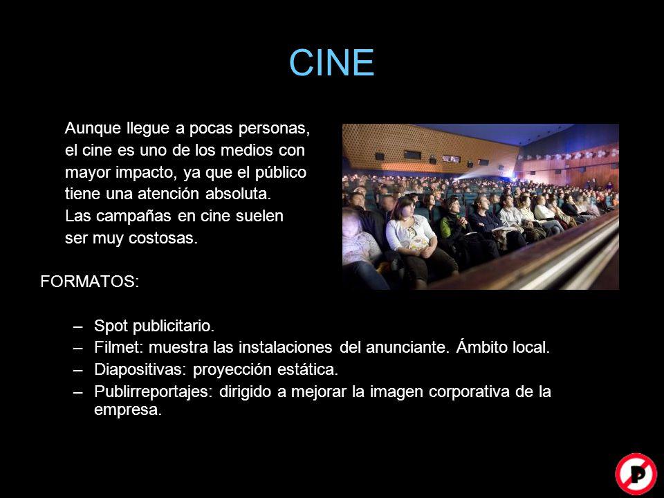 CINE Aunque llegue a pocas personas, el cine es uno de los medios con