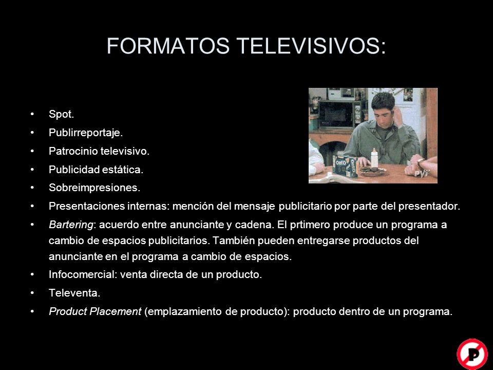 FORMATOS TELEVISIVOS: