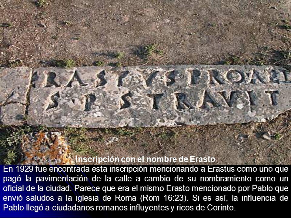 Inscripción con el nombre de Erasto