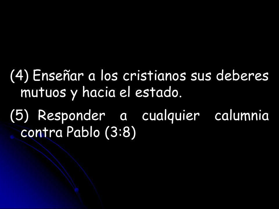 Enseñar a los cristianos sus deberes mutuos y hacia el estado.