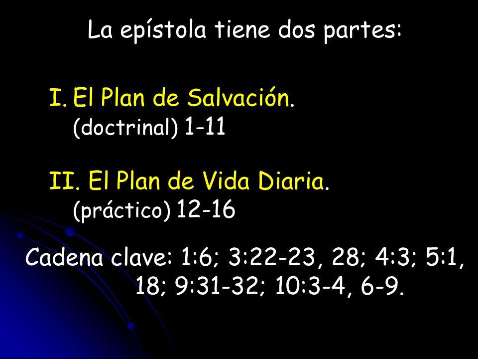 La epístola tiene dos partes: