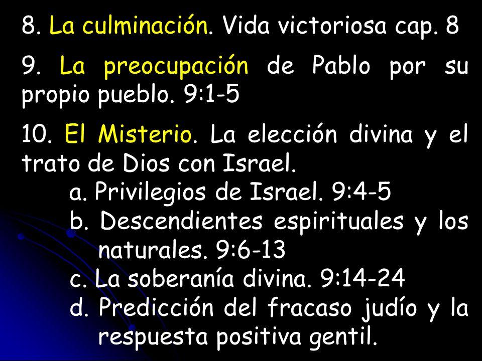 8. La culminación. Vida victoriosa cap. 8