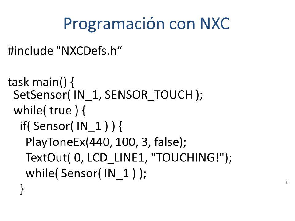Programación con NXC
