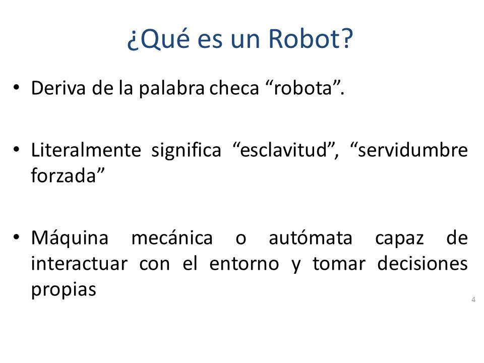 ¿Qué es un Robot Deriva de la palabra checa robota .