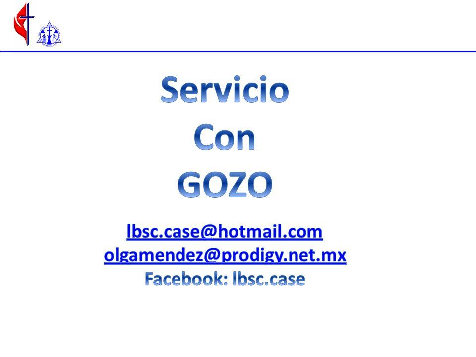 Servicio Con GOZO lbsc.case@hotmail.com olgamendez@prodigy.net.mx