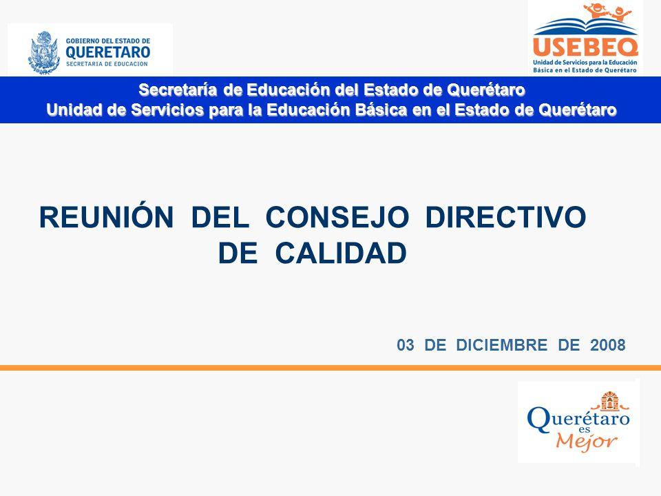 REUNIÓN DEL CONSEJO DIRECTIVO DE CALIDAD