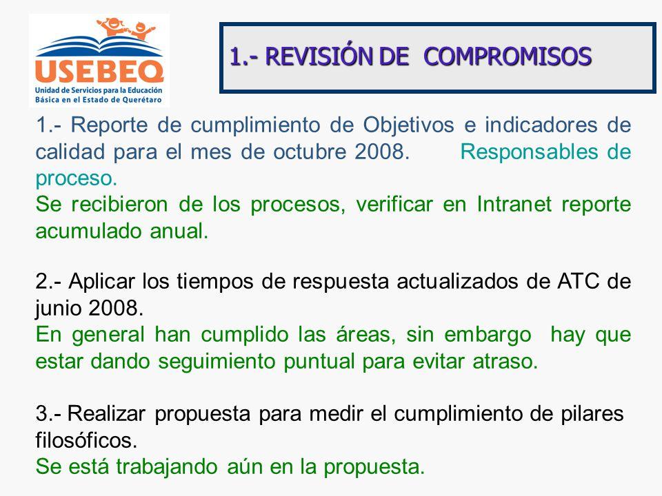 1.- REVISIÓN DE COMPROMISOS