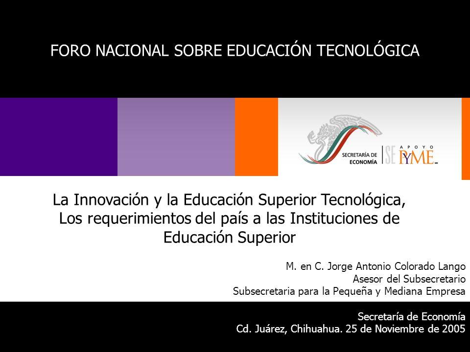 FORO NACIONAL SOBRE EDUCACIÓN TECNOLÓGICA