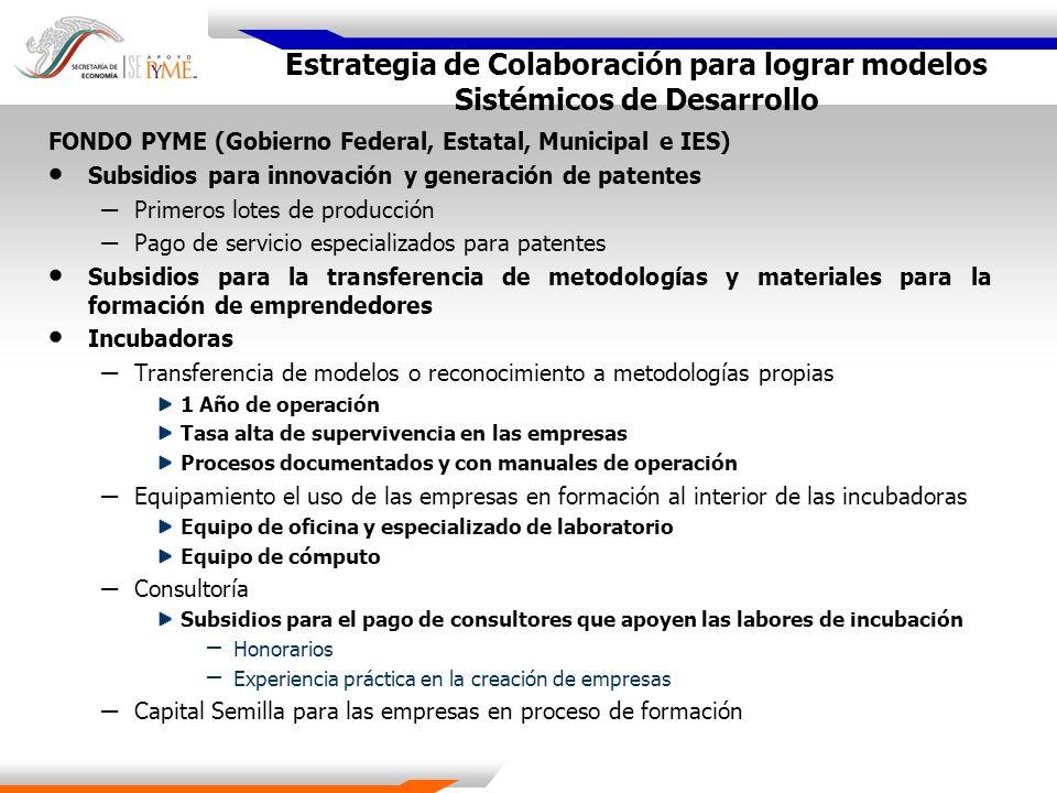 Estrategia de Colaboración para lograr modelos Sistémicos de Desarrollo