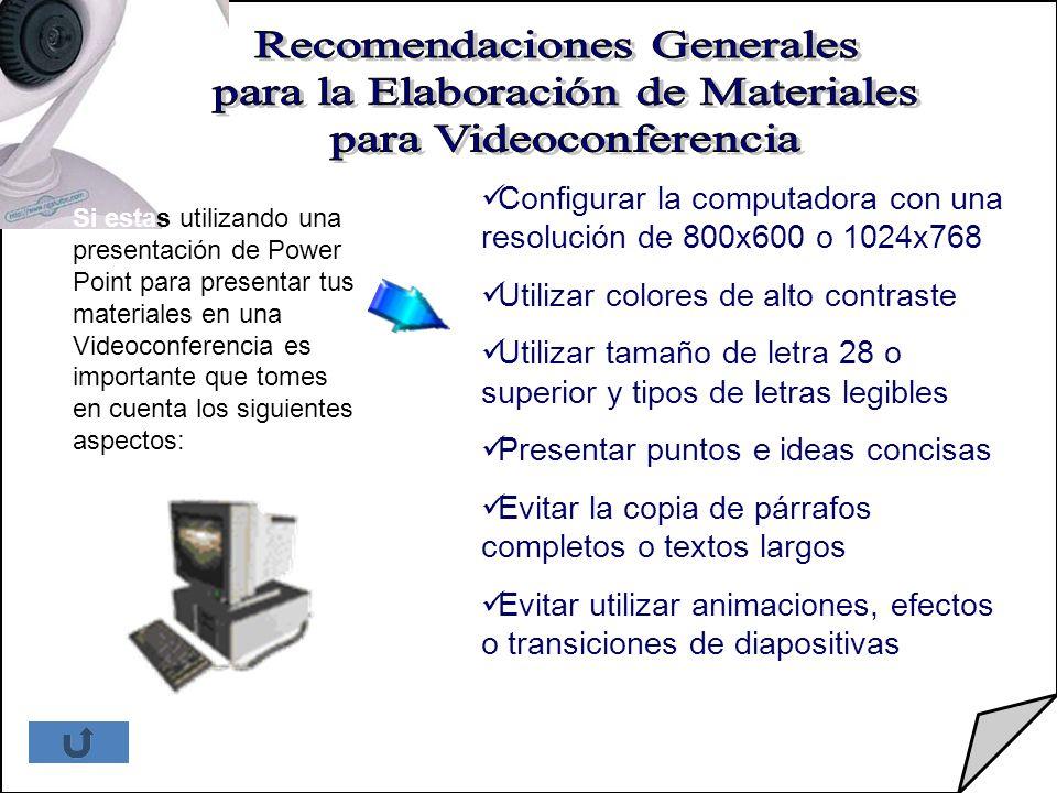Recomendaciones Generales para la Elaboración de Materiales