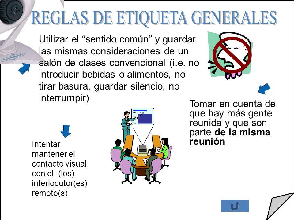 REGLAS DE ETIQUETA GENERALES