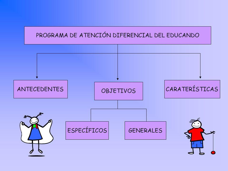 PROGRAMA DE ATENCIÓN DIFERENCIAL DEL EDUCANDO