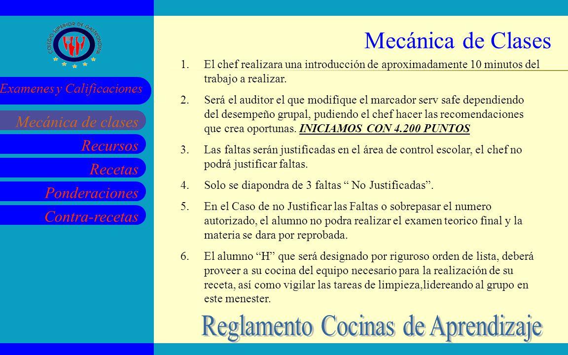 Reglamento Cocinas de Aprendizaje