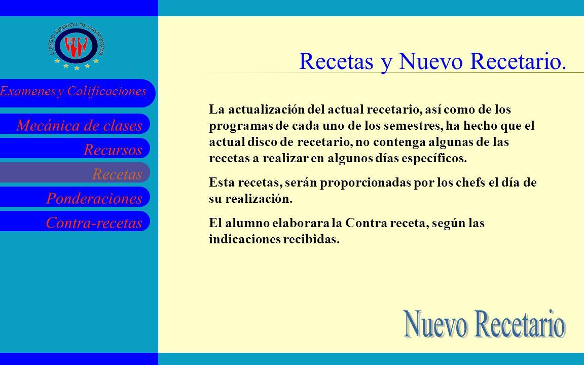 Recetas y Nuevo Recetario.