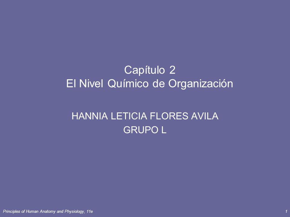 Capítulo 2 El Nivel Químico de Organización