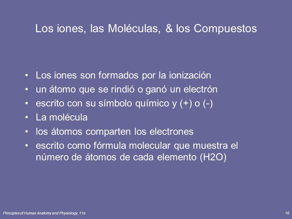 Los iones, las Moléculas, & los Compuestos