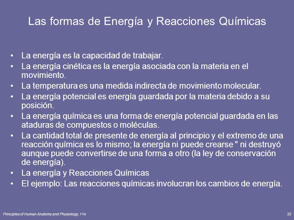 Las formas de Energía y Reacciones Químicas
