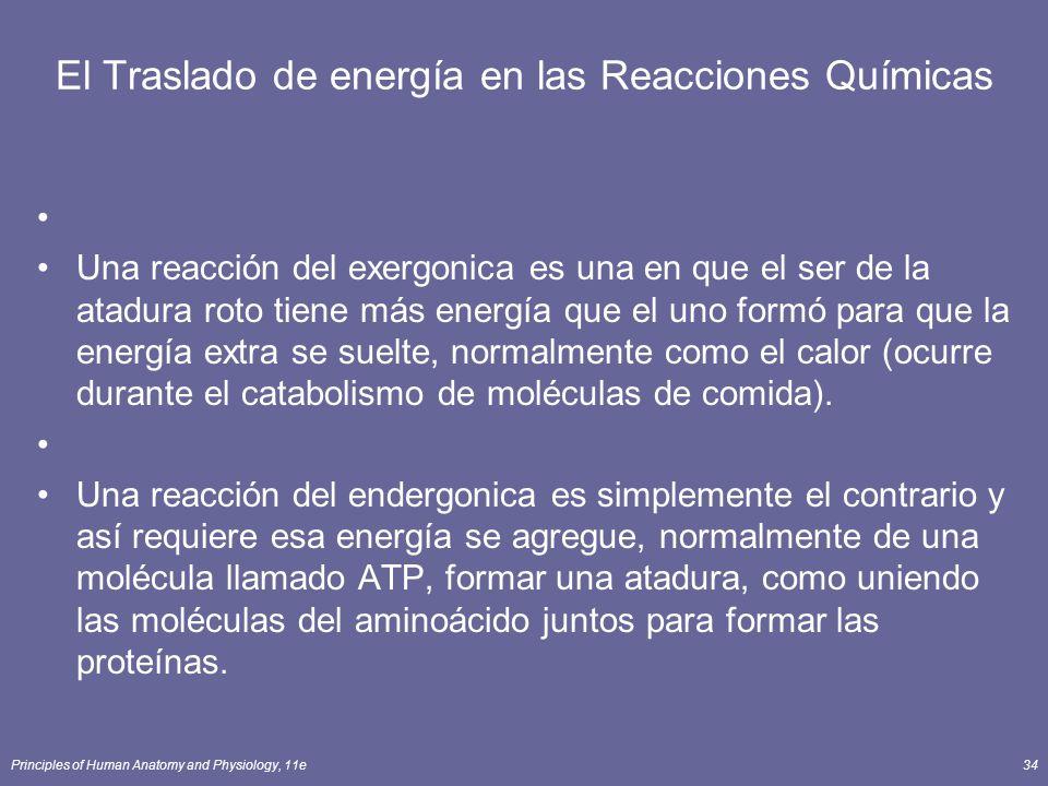 El Traslado de energía en las Reacciones Químicas