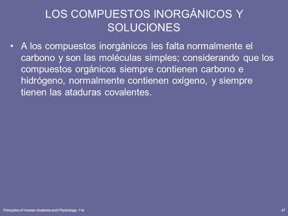 LOS COMPUESTOS INORGÁNICOS Y SOLUCIONES