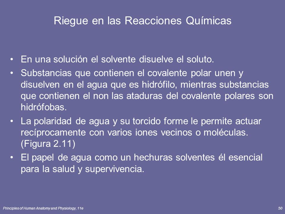 Riegue en las Reacciones Químicas