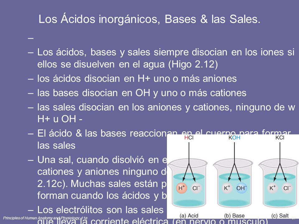 Los Ácidos inorgánicos, Bases & las Sales.