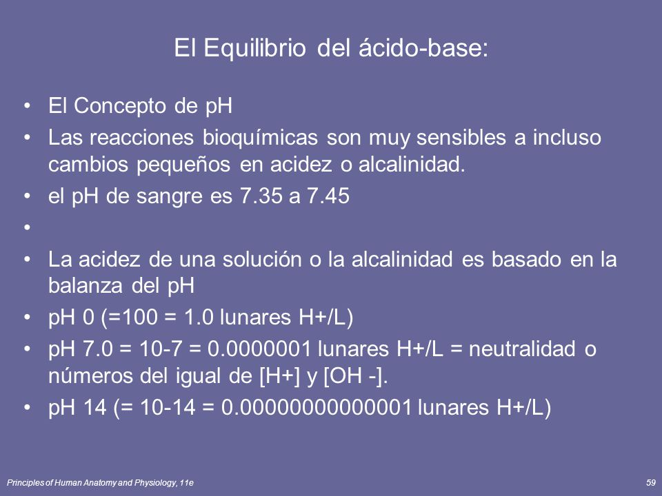El Equilibrio del ácido-base: