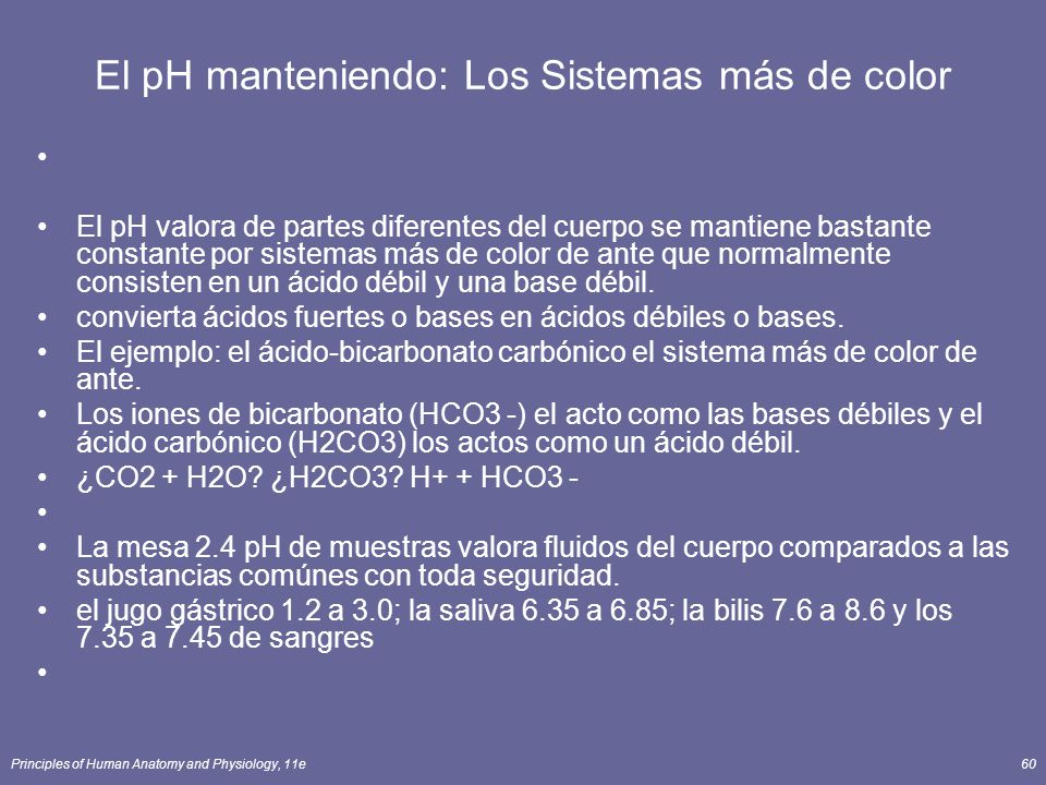 El pH manteniendo: Los Sistemas más de color