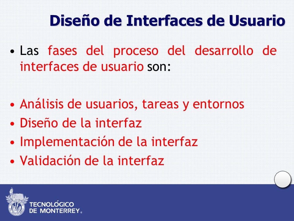 Diseño de Interfaces de Usuario
