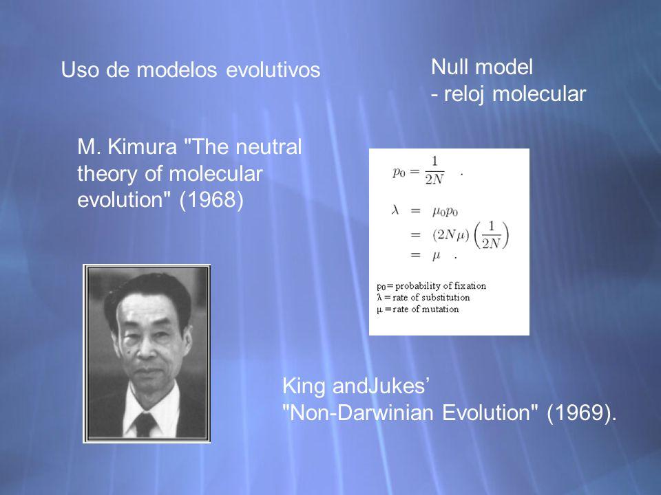 Uso de modelos evolutivos
