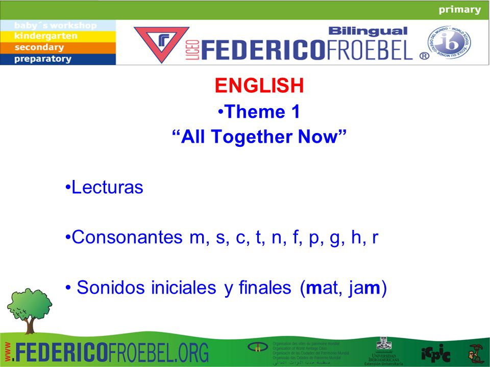 ENGLISH Theme 1 All Together Now Lecturas