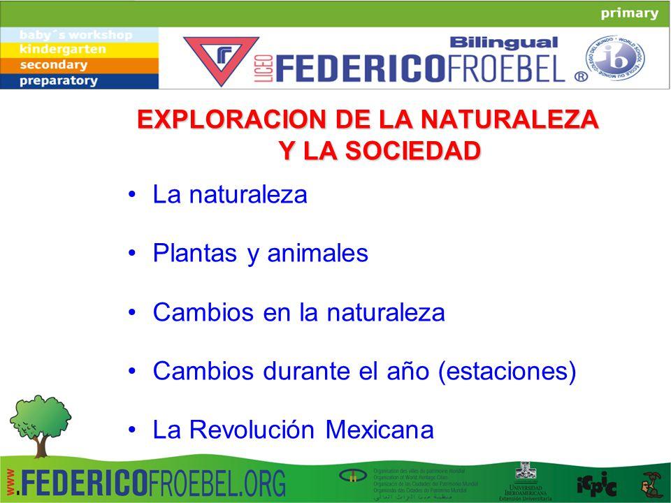 EXPLORACION DE LA NATURALEZA Y LA SOCIEDAD