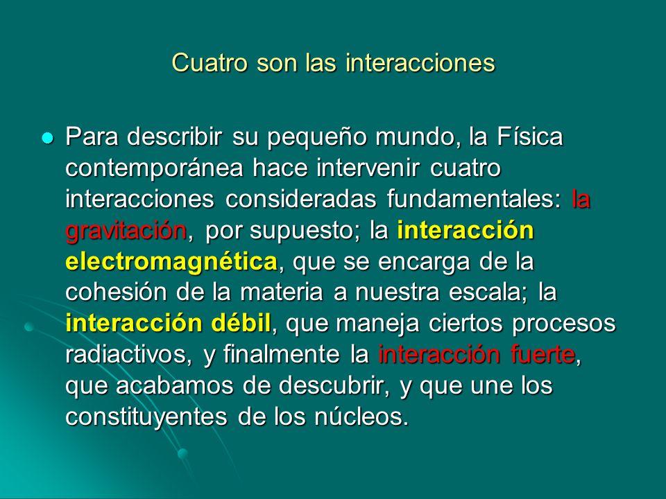 Cuatro son las interacciones