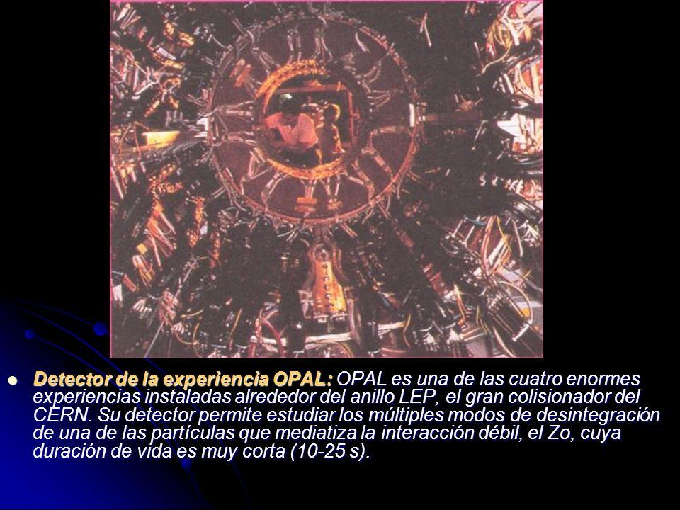 Detector de la experiencia OPAL: OPAL es una de las cuatro enormes experiencias instaladas alrededor del anillo LEP, el gran colisionador del CERN.