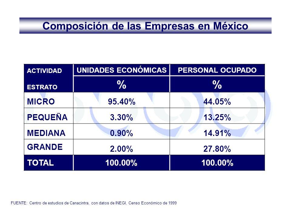 Composición de las Empresas en México
