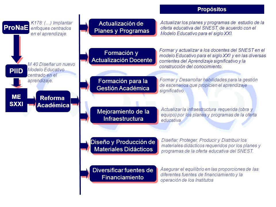 ProNaE PIID Actualización de Planes y Programas Formación y