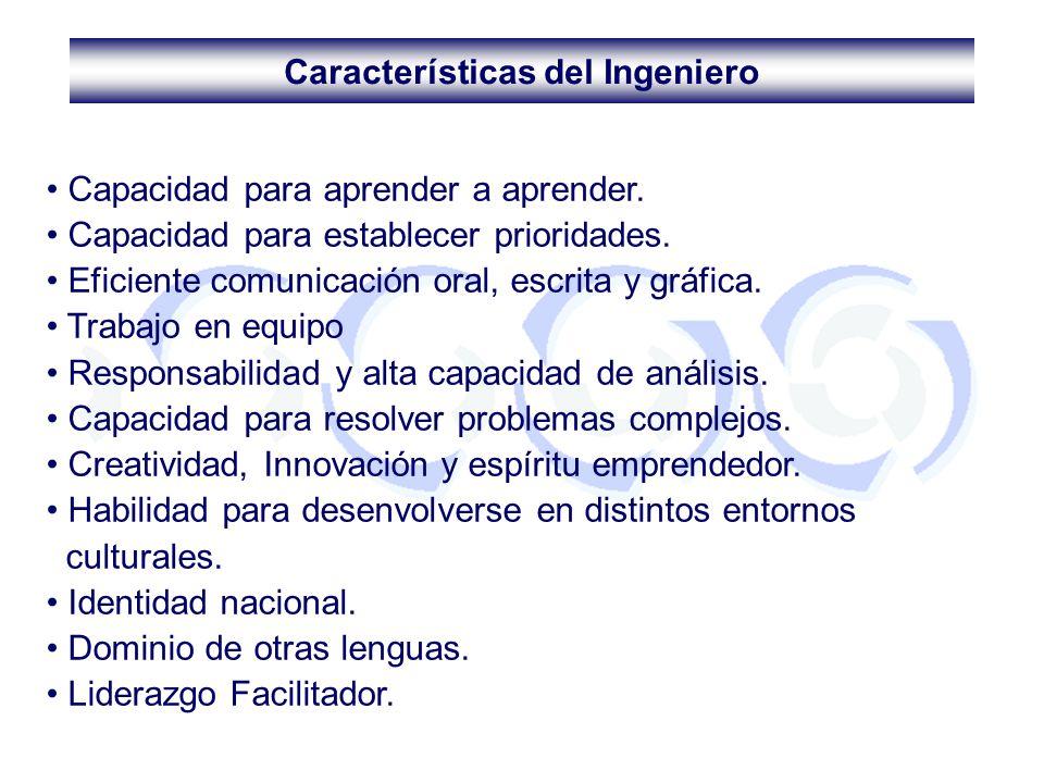 Características del Ingeniero