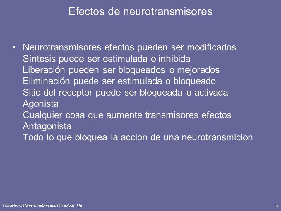 Efectos de neurotransmisores