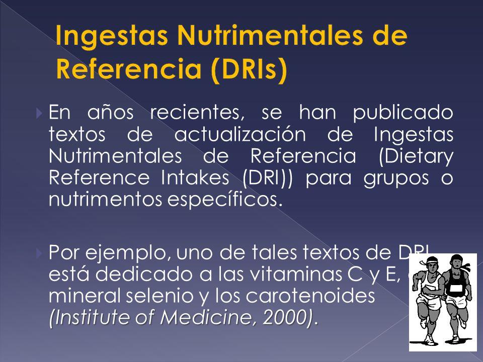 Ingestas Nutrimentales de Referencia (DRIs)
