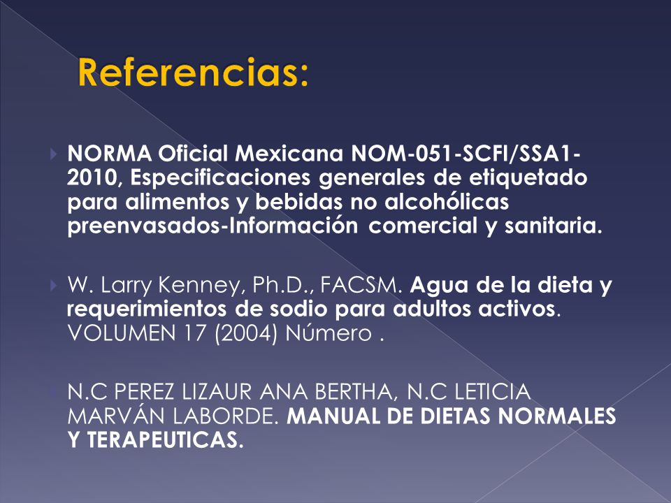 Referencias: