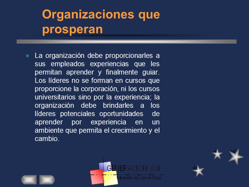 Organizaciones que prosperan
