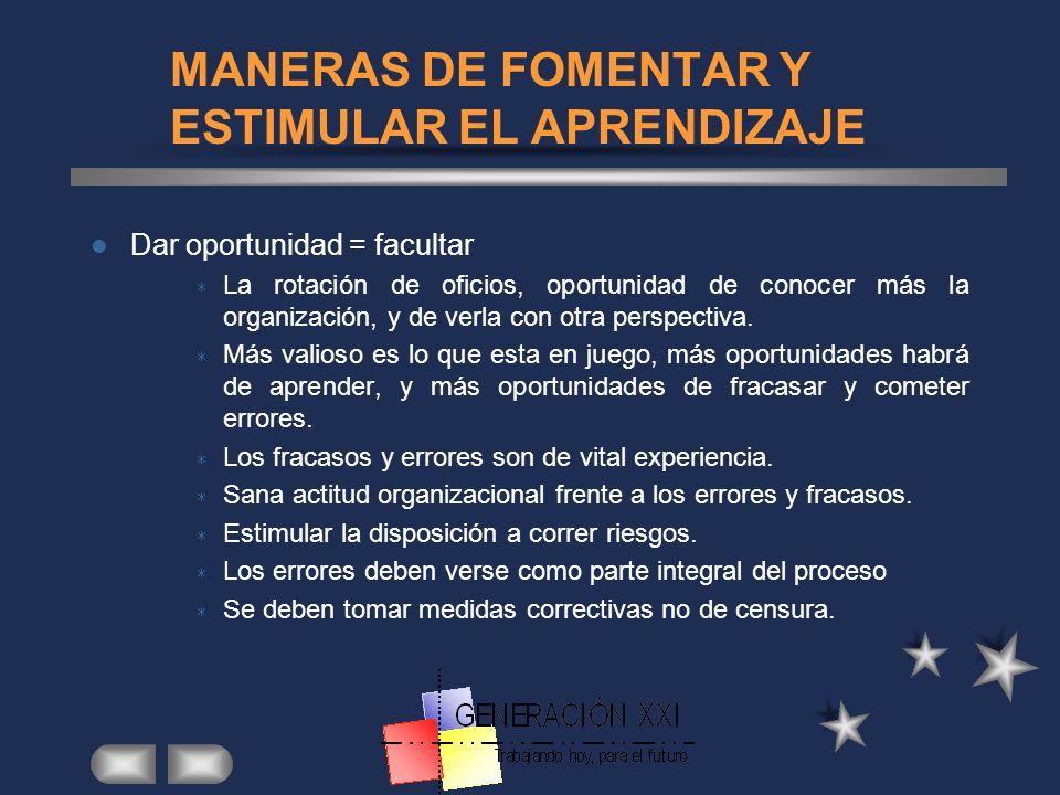 MANERAS DE FOMENTAR Y ESTIMULAR EL APRENDIZAJE