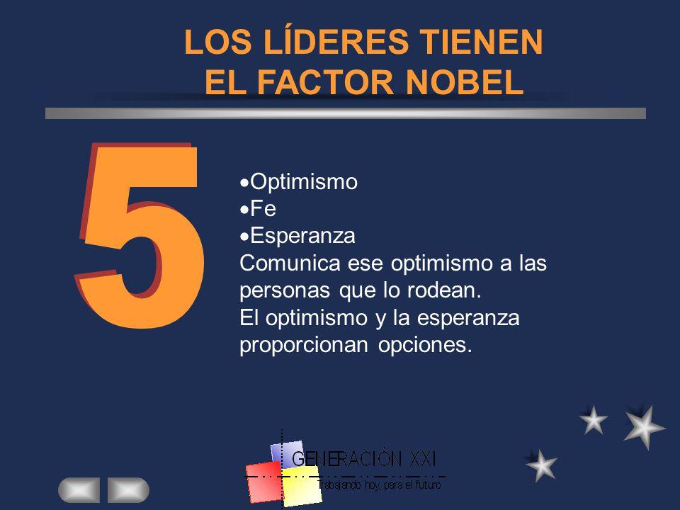 LOS LÍDERES TIENEN EL FACTOR NOBEL