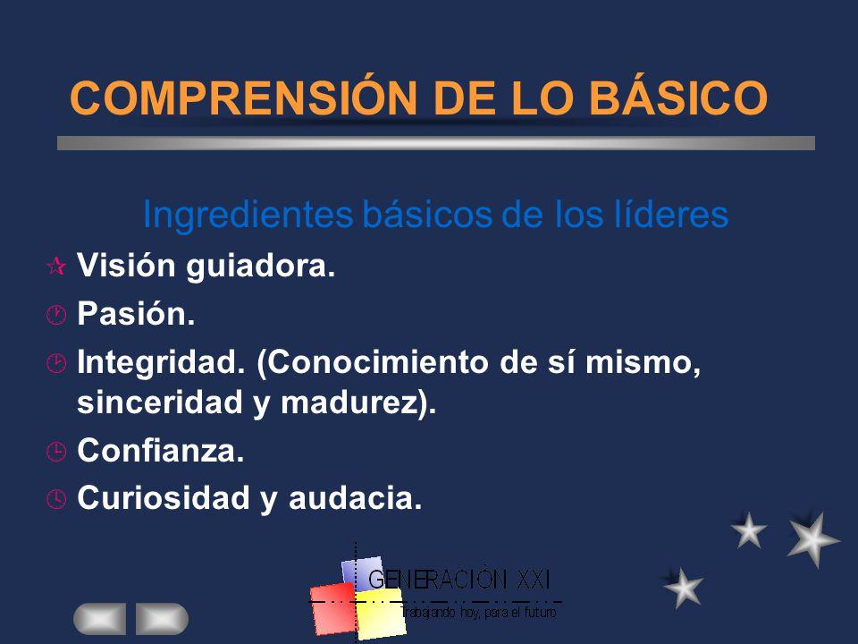 COMPRENSIÓN DE LO BÁSICO
