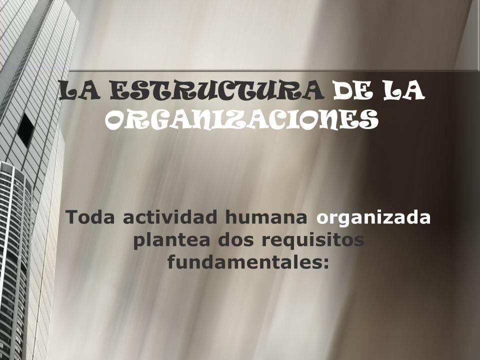 LA ESTRUCTURA DE LA ORGANIZACIONES