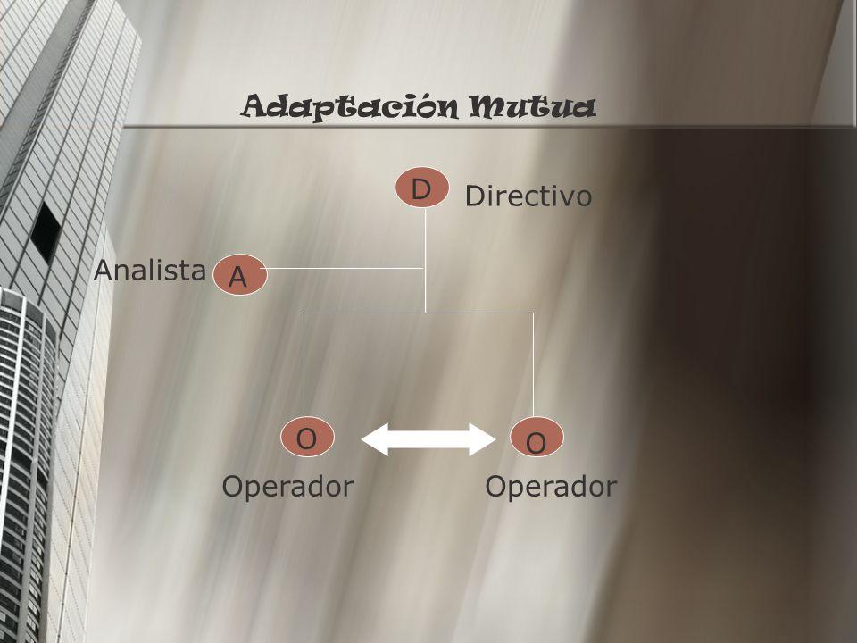 Adaptación Mutua D Directivo Analista A O O Operador Operador