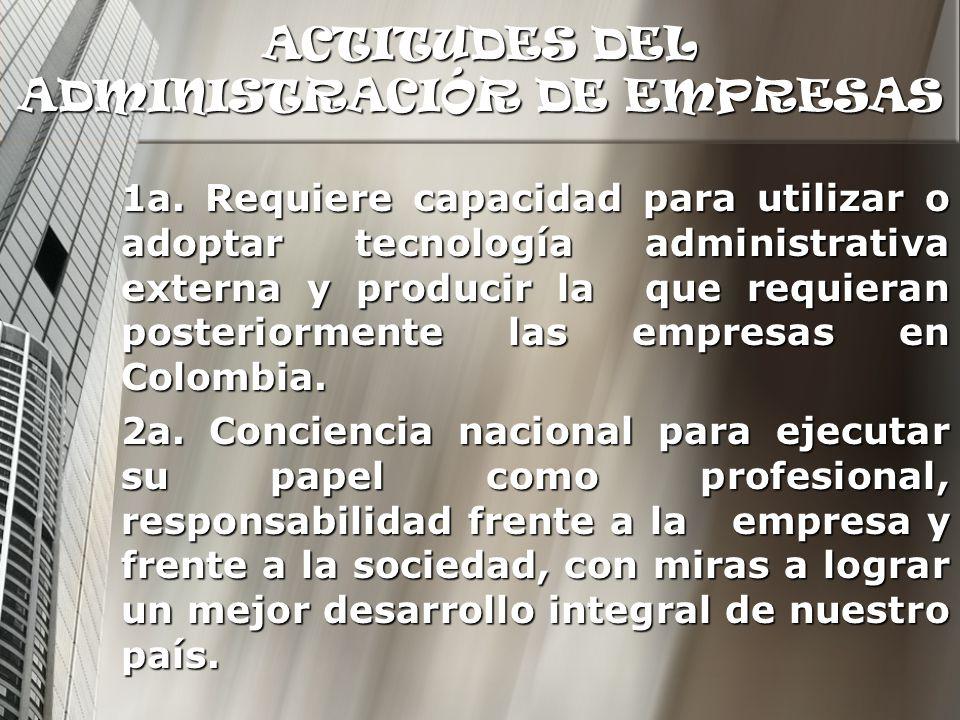 ACTITUDES DEL ADMINISTRACIÓR DE EMPRESAS