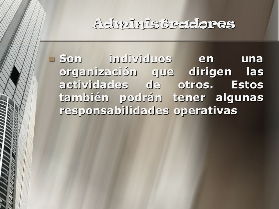 Administradores