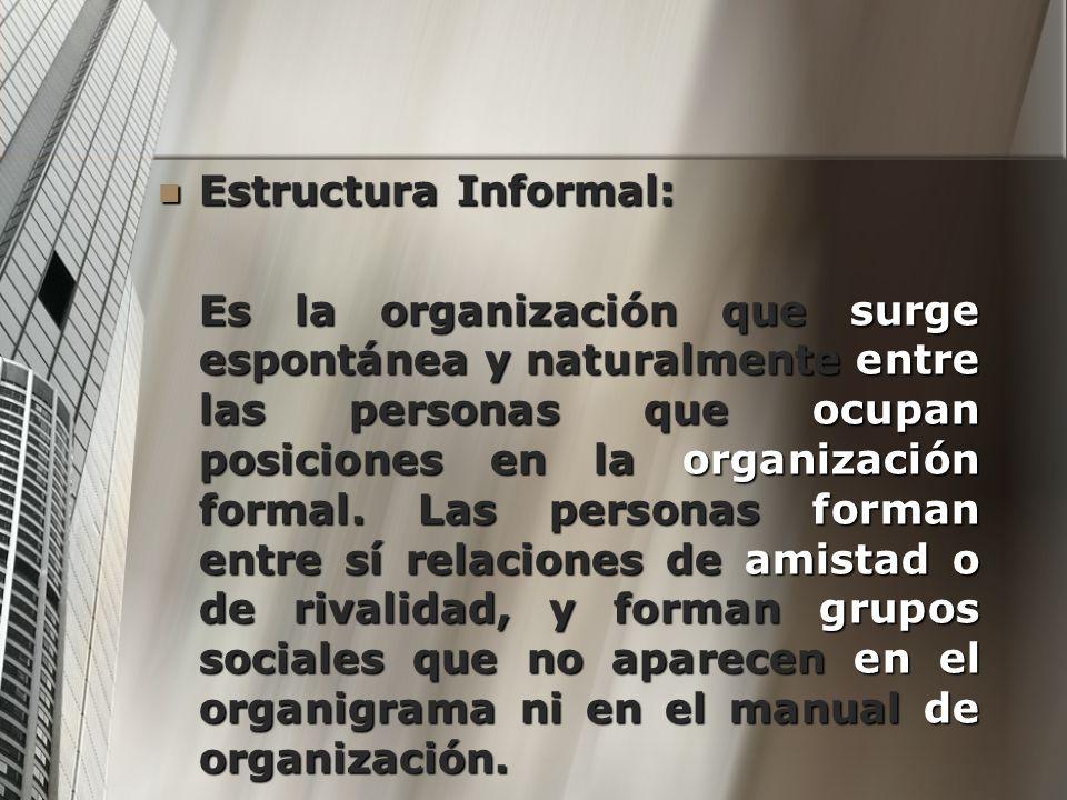 Estructura Informal: