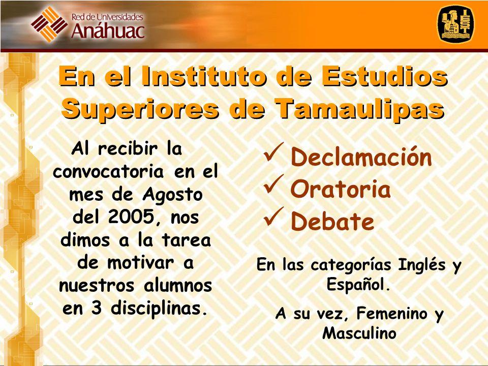 En el Instituto de Estudios Superiores de Tamaulipas