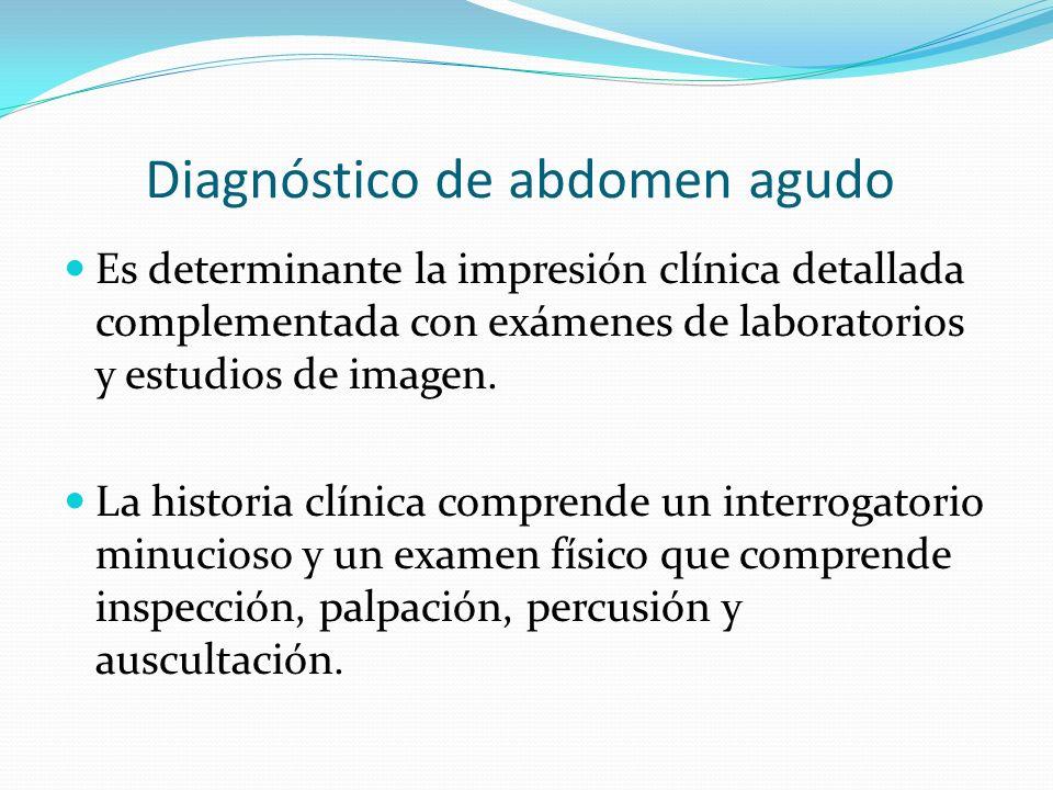Diagnóstico de abdomen agudo